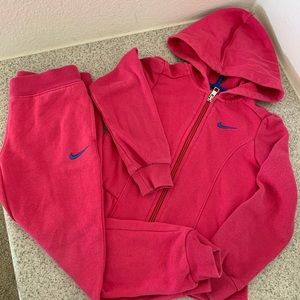 Girl Nike Jacket with Hoodie and Jogger Set